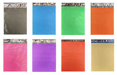 1-2000 Colored Poly Mailers RED GREEN PINK BLUE BLACK ORANGE YELLOW PURPLE