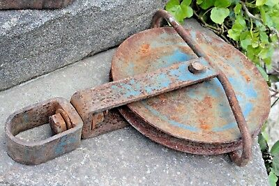 Vintage Industrial Pulley Wheel Iron - Yorkshire Dales Reclaim