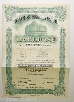 Part sociale : Grands magasin de la bourse ( 395 )