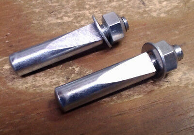 Bike Bicycle Cotter Pins for Cottered Style Cranks 1 pair 9.5 mm