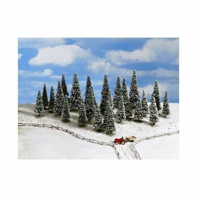 NOCH- (D)32528- (D)Snow Fir Trees, 25 pcs., 4- (D)10 cm high