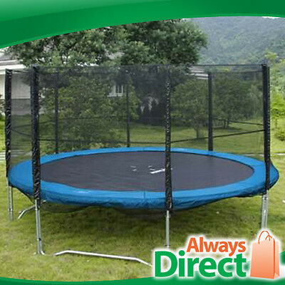 * NSW PICKUP * 12 ft Outdoor Trampoline Enclosure Set + Safety Net + Ladder
