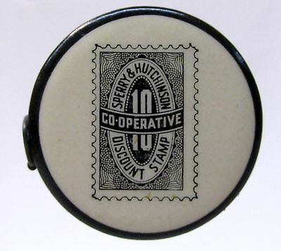 1930's Sperry & Hutchinson S&H GREEN STAMPS advertising celluloid tape measure *