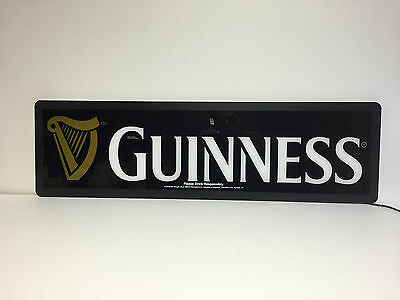 """Guinness Draught LED Opti Neon Sign - Harp - 30"""" x 9"""" NEW In BOX  * See Pictures"""