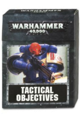 Warhammmer 40K 8th Edition Tactical Objectives Factory Sealed Cards