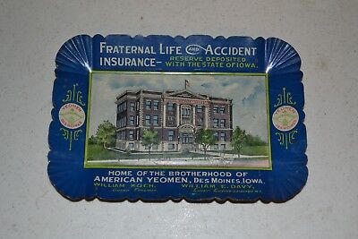 Fraternal Insurance Co. Tip Tray