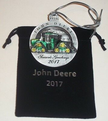 NEW - 2017 John Deere Pewter Christmas Ornament - 9 RX Tractors - #22 in series