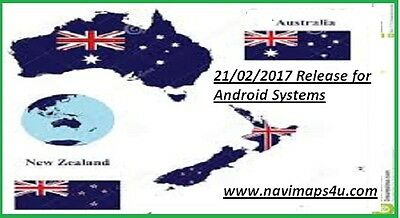 Android GPS Software,with February 2017  Australia & N.Z Maps, on micro SD Card,