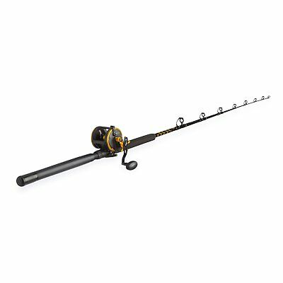 Penn Squall 30 Level Wind Fishing Rod and Trolling Reel Combo, 6.5 Feet