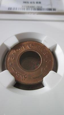 Pakistan 1 Pice 1952 NGC MS 65 RB