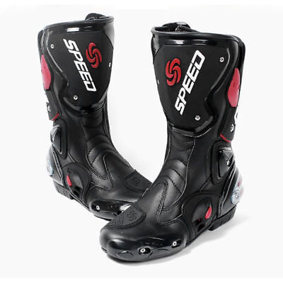 Mens Motorcycle Racing boots Waterproof Motocross Boots Motorbike Shoes