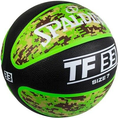NEW! SPALDING BASKETBALL TF33 Outdoor Basketball Ball Size 7 Green Easy Grip