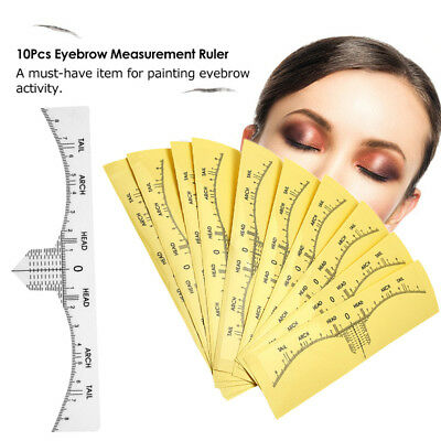 Eyebrow Ruler Stickers Tattoo Painting Microblading Disposable Measure Tool LCM9