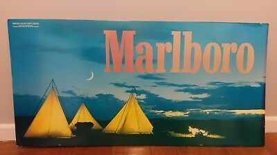Retro Marlboro Cigarettes Cardboard Shop Advertising Sign Bar Tobacco Mancave