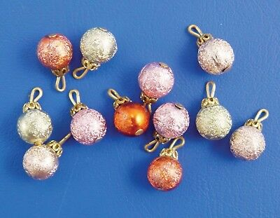 1:12 Scale 12 Christmas Tree Decorations Dolls House Xmas Accessory Baubles 942