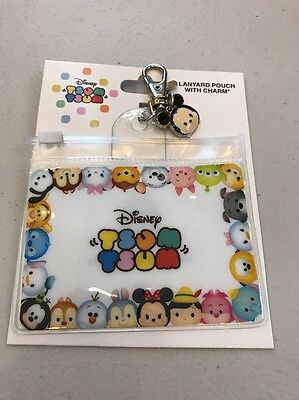 Disney Parks: Tsum Tsum Lanyard Pouch With Charm: Mickey (DL-2)