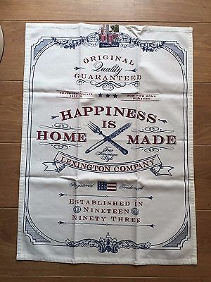 Lexington Living Kitchen Towel, 100% Cotton, New With Tags