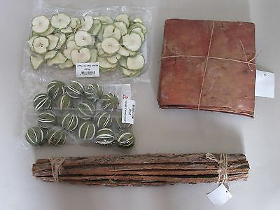 Dried Fruit Bark Birch Apple Slices Floral Flower Crafts