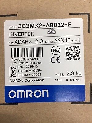 OMRON Inverter Variable Speed Drive 3G3MX2-AB022 240v Single phase input 2.2kw