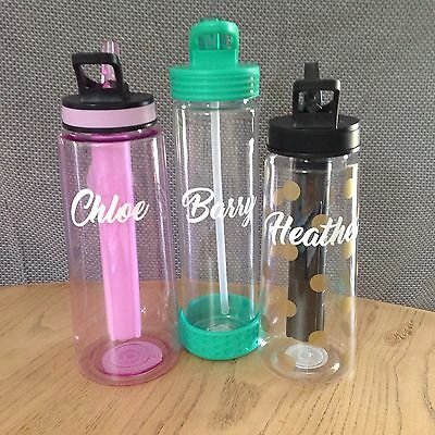 DRINK BOTTLE NAMES x5 for Teachers Gifts Friends Kids Sports Teams Waterproof