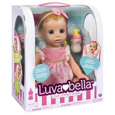 Brand new Interactive Luvabella Blond Baby Girl Doll  100% AUTHENTIC * SHIPS NOW