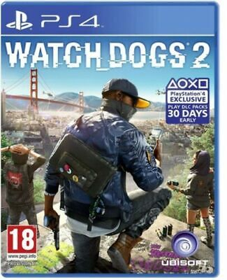 Watch Dogs 2 Standard Edition Ps4 Italiano Videogioco Play Station 4 Gioco Nuovo
