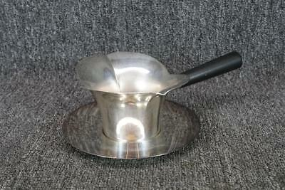 F. B. Rogers #856 Silverplate Gravy Server With Saucer