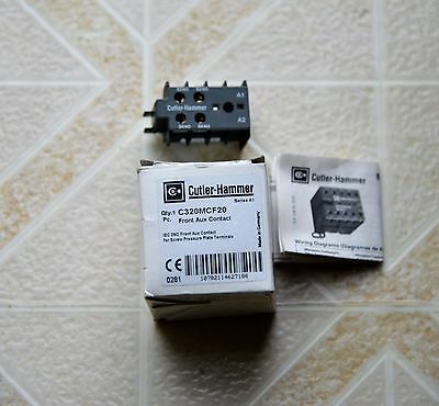 New Cutler Hammer Front Auxiliary Contact C320Mcf20 2 No