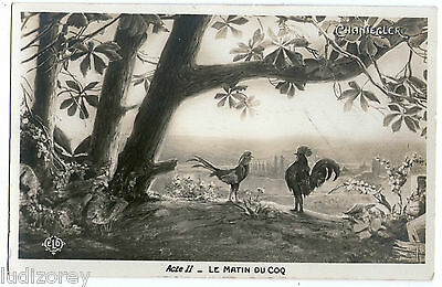 Cpa A26 Chantecler Piece Guitry Oeuvre Rostand Theatre Coq Matin Basse-Cour