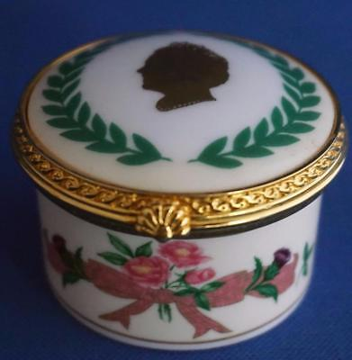 Queen Mother Royal Worcester  Trinket Box Royal Commemorative  Limited Edition