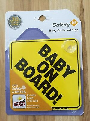 Baby On Board-Safety 1st Car Window Suction Cup Yellow