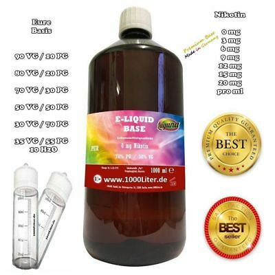 E Liquid Base 1000ml E-Liquid 1l 0 3mg 6mg 9mg 20mg Nikotin 50/50 e Zigarette