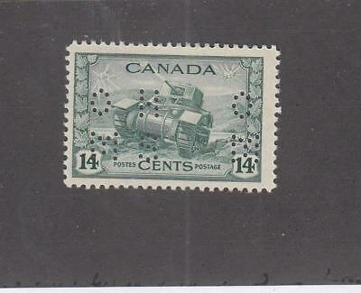 CANADA (LOT MK817)  #O259  VF-MLH   14cts  OHMS RAM TANK CAT VALUE $9