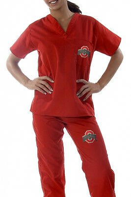 Ohio State Buckeyes Red College Scrubs Set - Brand New - FREE SHIPPING!!!