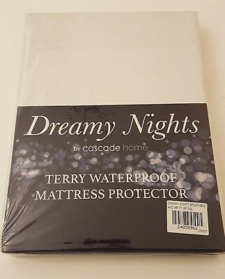 New Waterproof Matress Terry Towel fitted sheet Single