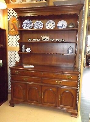 Gorgeous Vintage Solid Cherry Pennsylvania House China Cabinet Hutch Exc Cond