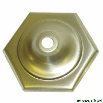 Six Sided Vented Brass Vase Cap for Stained Glass Lampshades and Repair