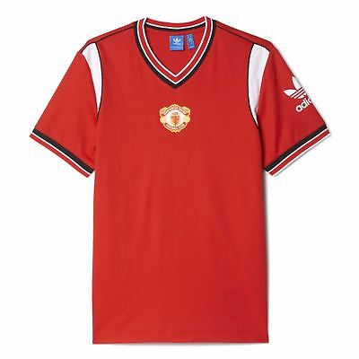 buy popular 77472 9f746 adidas Manchester United 1985 Retro Jersey Mens Red Football Soccer Top  T-Shirt