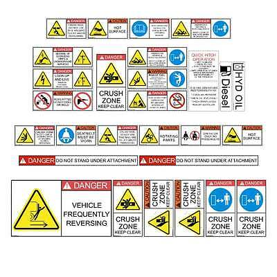 Telehandler Safety Decals Stickers Telescopic Forklift Loadall Cat Jcb Manitou