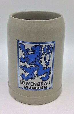 """Lowenbrau Munchen (Lion's Brew) Beer Stein Mug Cup 5"""" With Handle"""