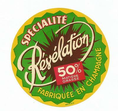 Ancienne Etiquette Fromage Revelation Champagne