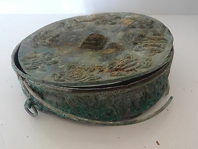 Antique  Mongolian Buddhist Hand Embossed Mandala Base With 8 Auspicious Symbols