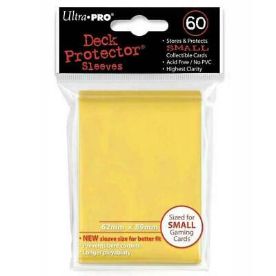 ULTRA PRO Deck Protector Sleeves Small 60ct 62 x 89 Yellow Yugioh