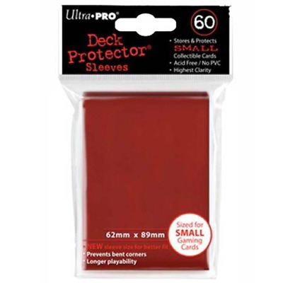 ULTRA PRO Deck Protector Sleeves Small 60ct 62 x 89 Imperial Red Yugioh
