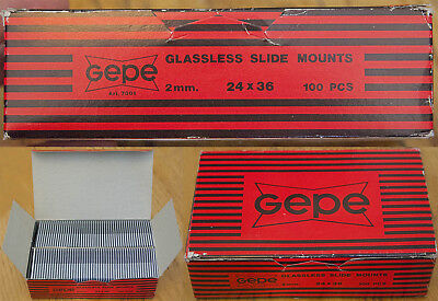 Gepe 24 x 36mm Glassless Plastic Slide Mounts, 2mm-Thick
