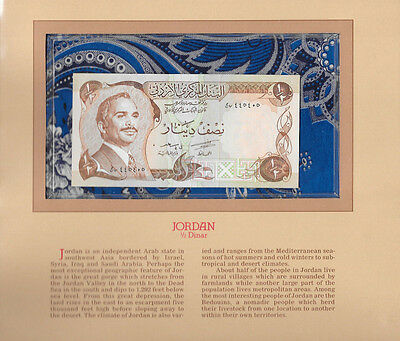 Most Treasured Banknotes Jordan 1/2 Half Dinar GEM UNC 1975 P17b signature 15