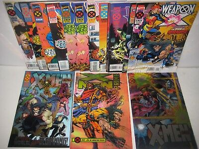 X-Men Age of Apocalypse Lot Complete + Extras Wolverine 50+ Issues Marvel