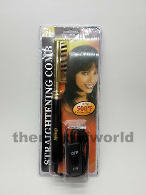 New! Annie Electrical Straightening Comb - Small Straight Teeth - 500F Hot #5533