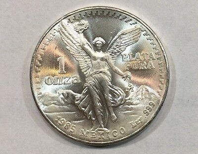 1985 1 onza Mexican Silver Libertad 1 oz Coin   ~~~  Uncirculated ~~~