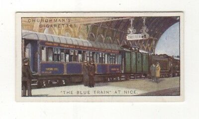 Train Card. The Blue Train at Nice, France
